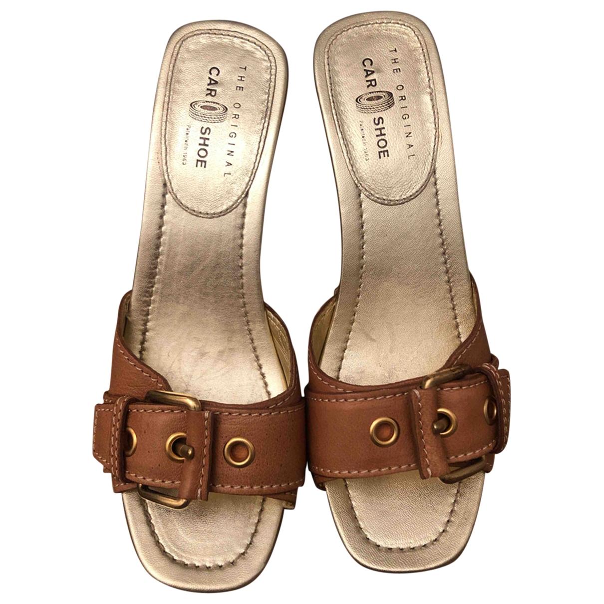 Carshoe \N Clogs in  Beige Leder