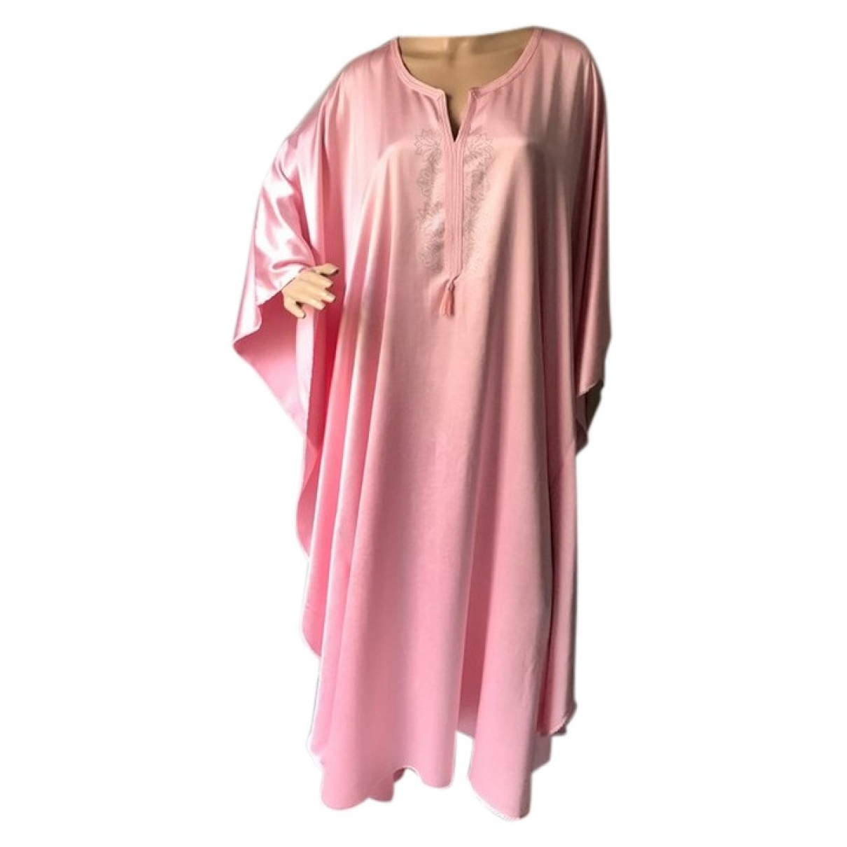 Non Signé / Unsigned \N Pink Silk dress for Women 42 FR