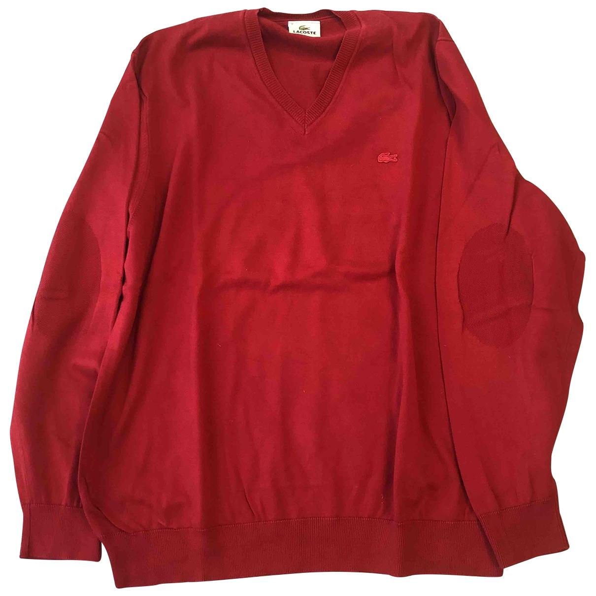 Lacoste \N Pullover.Westen.Sweatshirts  in  Rot Baumwolle