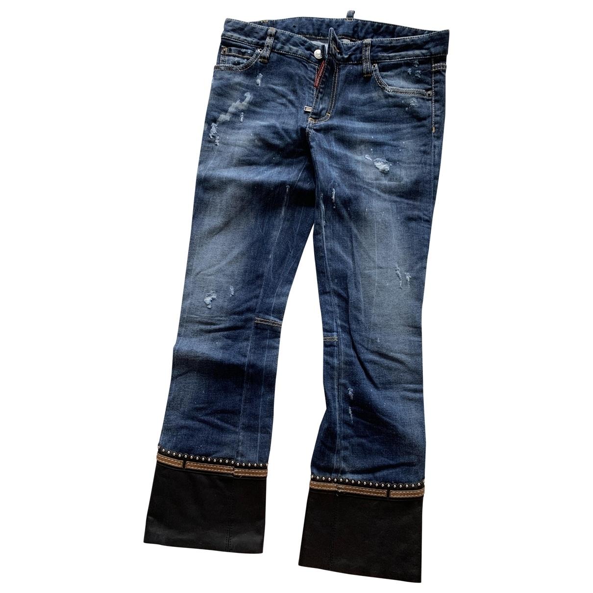 Dsquared2 \N Blue Denim - Jeans Jeans for Women 36 FR