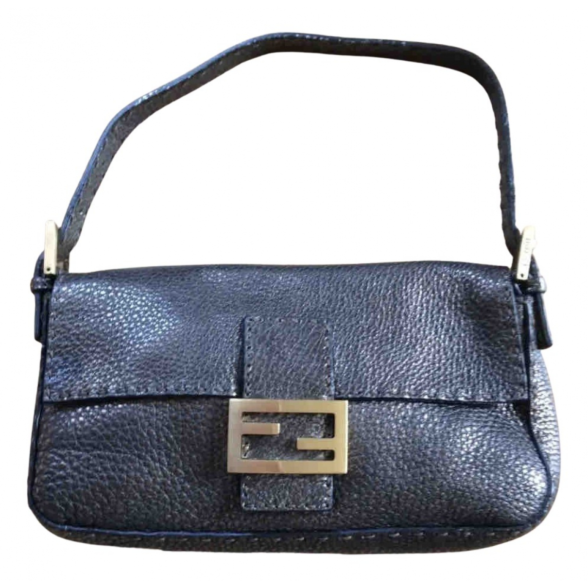 Fendi Baguette Black Leather handbag for Women N