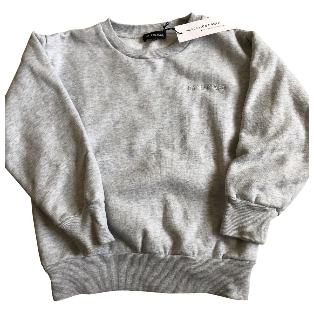Balenciaga \N Pullover, StrickJacke in  Grau Baumwolle