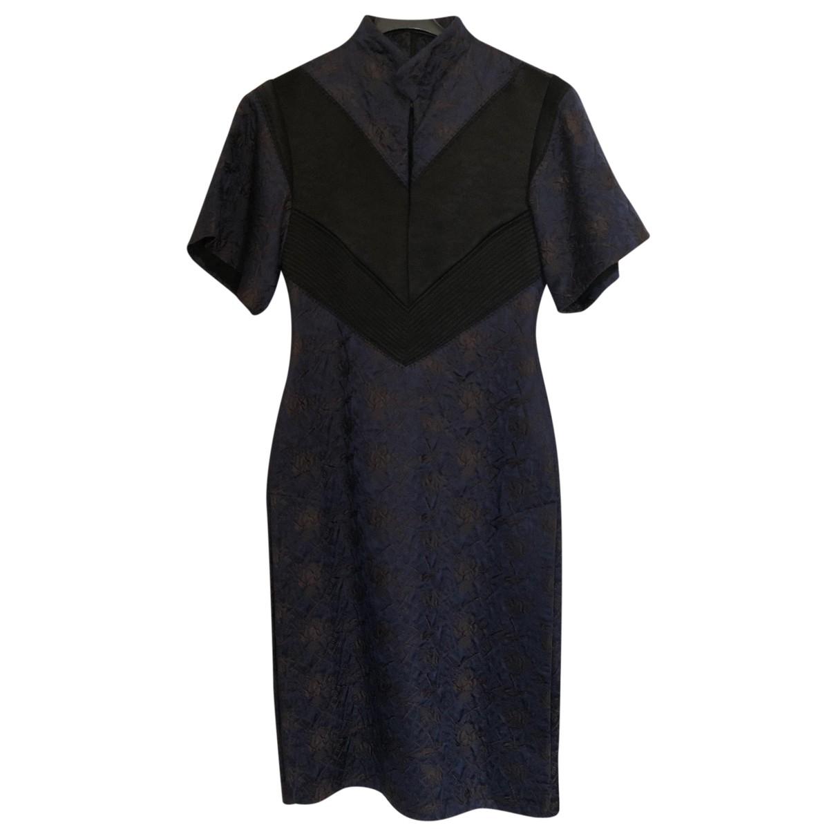 Ellery - Robe   pour femme en soie - marine