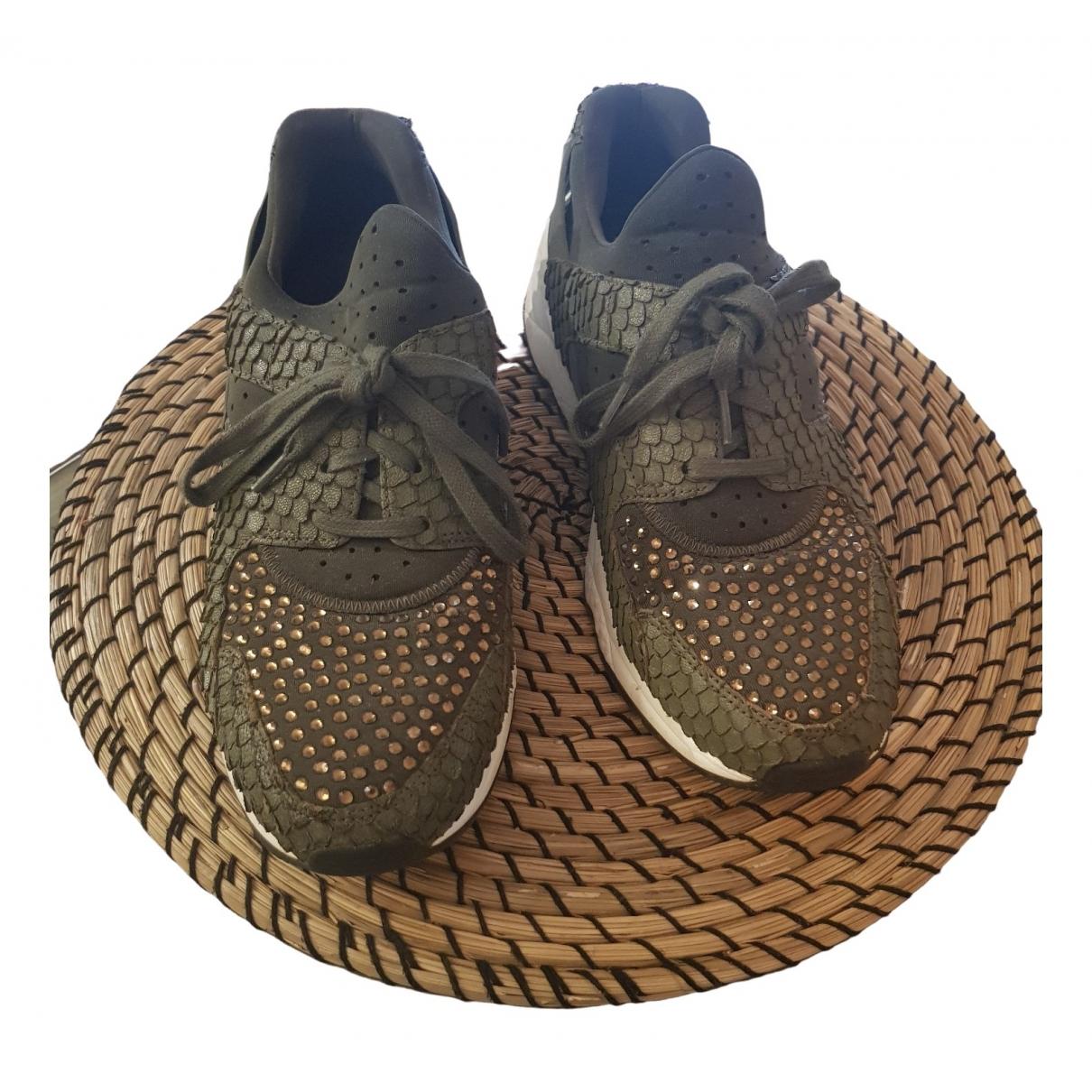Ash \N Sneakers in  Khaki Leinen