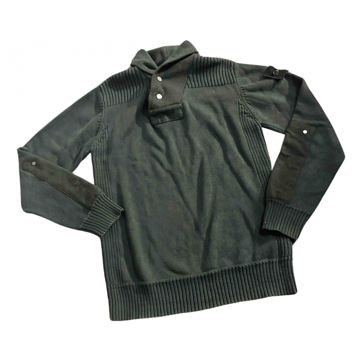 Stone Island N Green Cotton Knitwear & Sweatshirts for Men M International