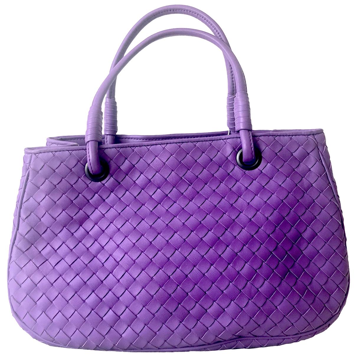 Bottega Veneta \N Handtasche in  Lila Leder