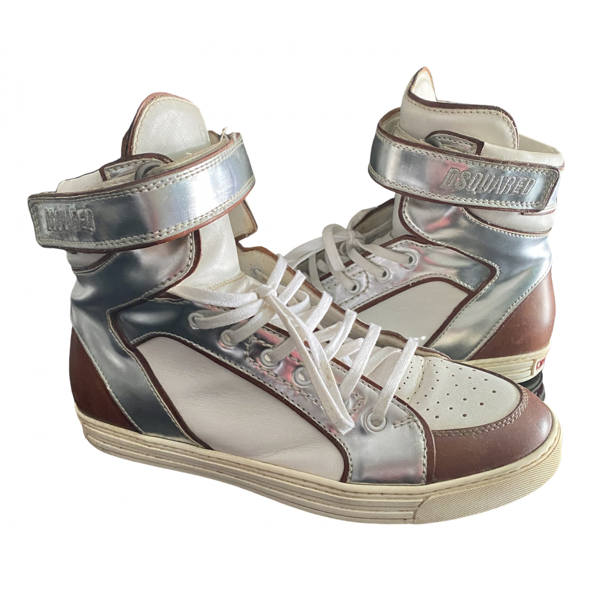 Dsquared2 \N White Leather Trainers for Men 41 IT