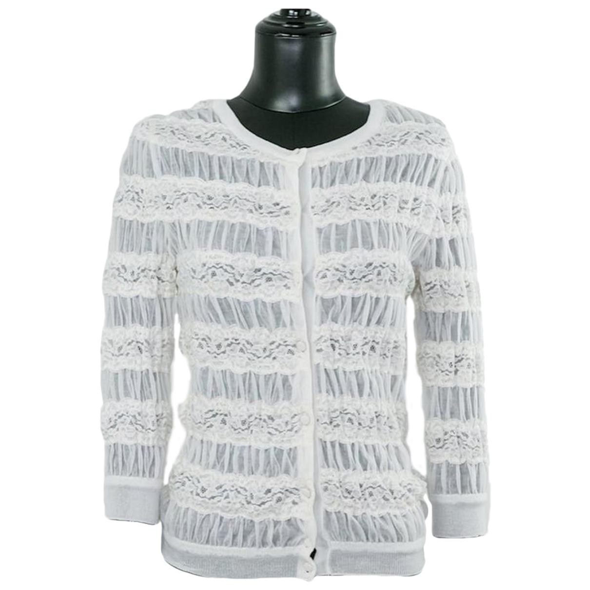 Dior - Pull   pour femme en soie - blanc