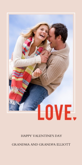 Valentine's Cards Flat Matte Photo Paper Cards with Envelopes, 4x8, Card & Stationery -Heartfelt Pink