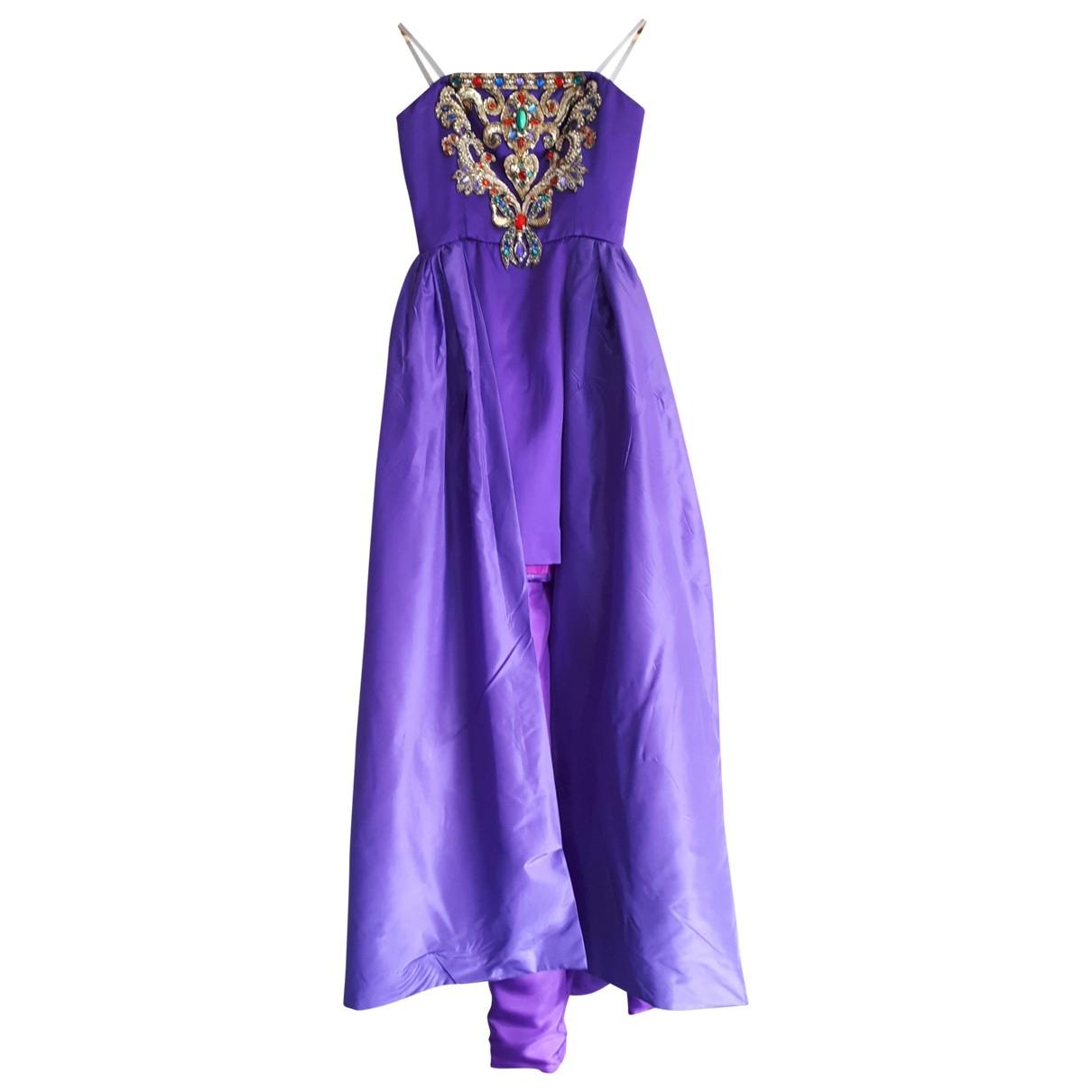 - Robe   pour femme en soie - violet