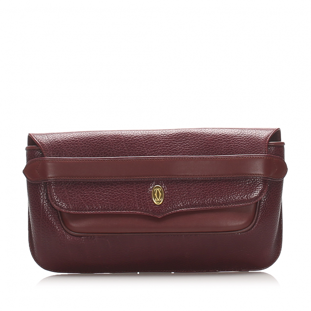 Cartier C Red Leather Clutch bag for Women \N