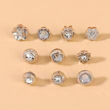 10 piezas broche con diamante