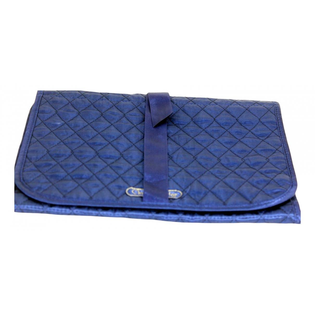 Dior \N Blue Silk Travel bag for Women \N