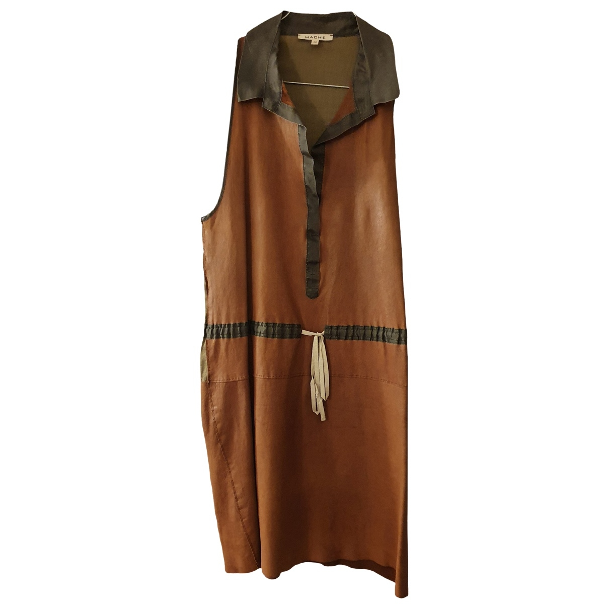 Hache \N Kleid in  Kamel Leder