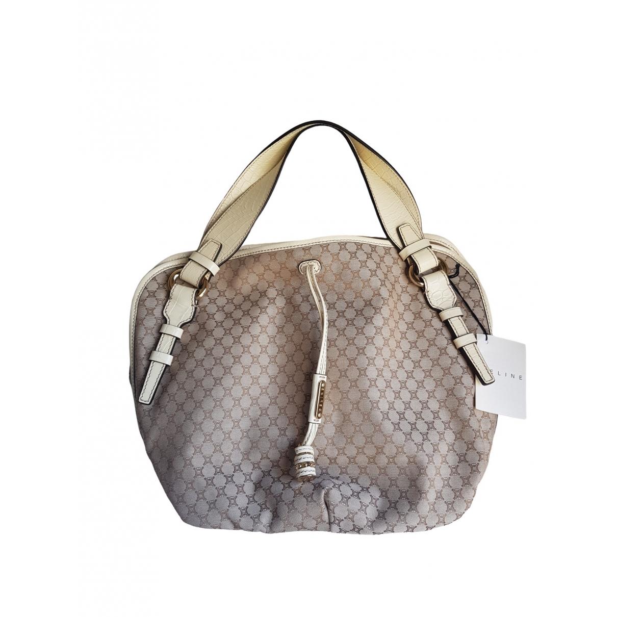 Celine \N Handtasche in  Beige Baumwolle