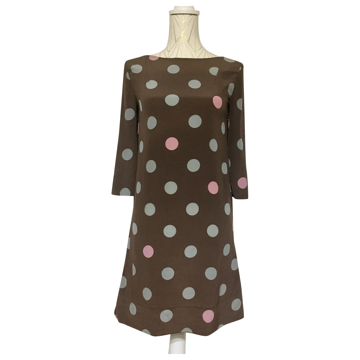 Marni \N Brown Silk dress for Women 38 IT