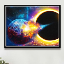 Outer Space Print DIY Diamond Painting Without Frame