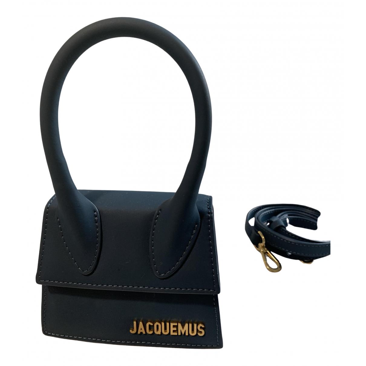 Jacquemus Chiquito Handtasche in  Marine Leder