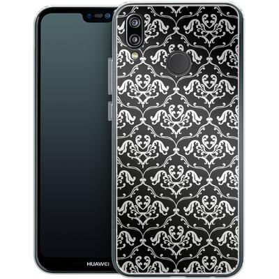 Huawei P20 Lite Silikon Handyhuelle - Black French Lillies von caseable Designs