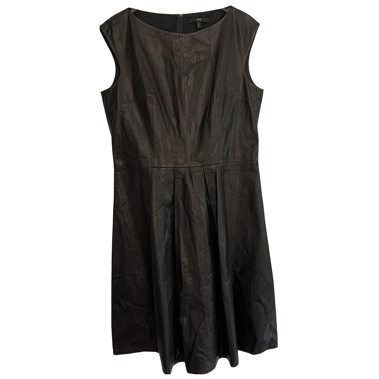 Boss \N Kleid in  Schwarz Leder