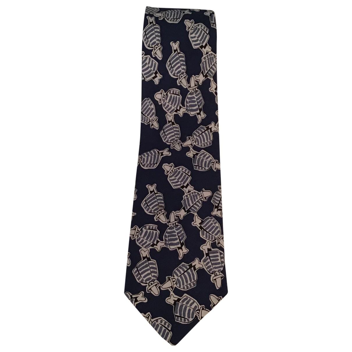 Emporio Armani - Cravates   pour homme en soie - noir