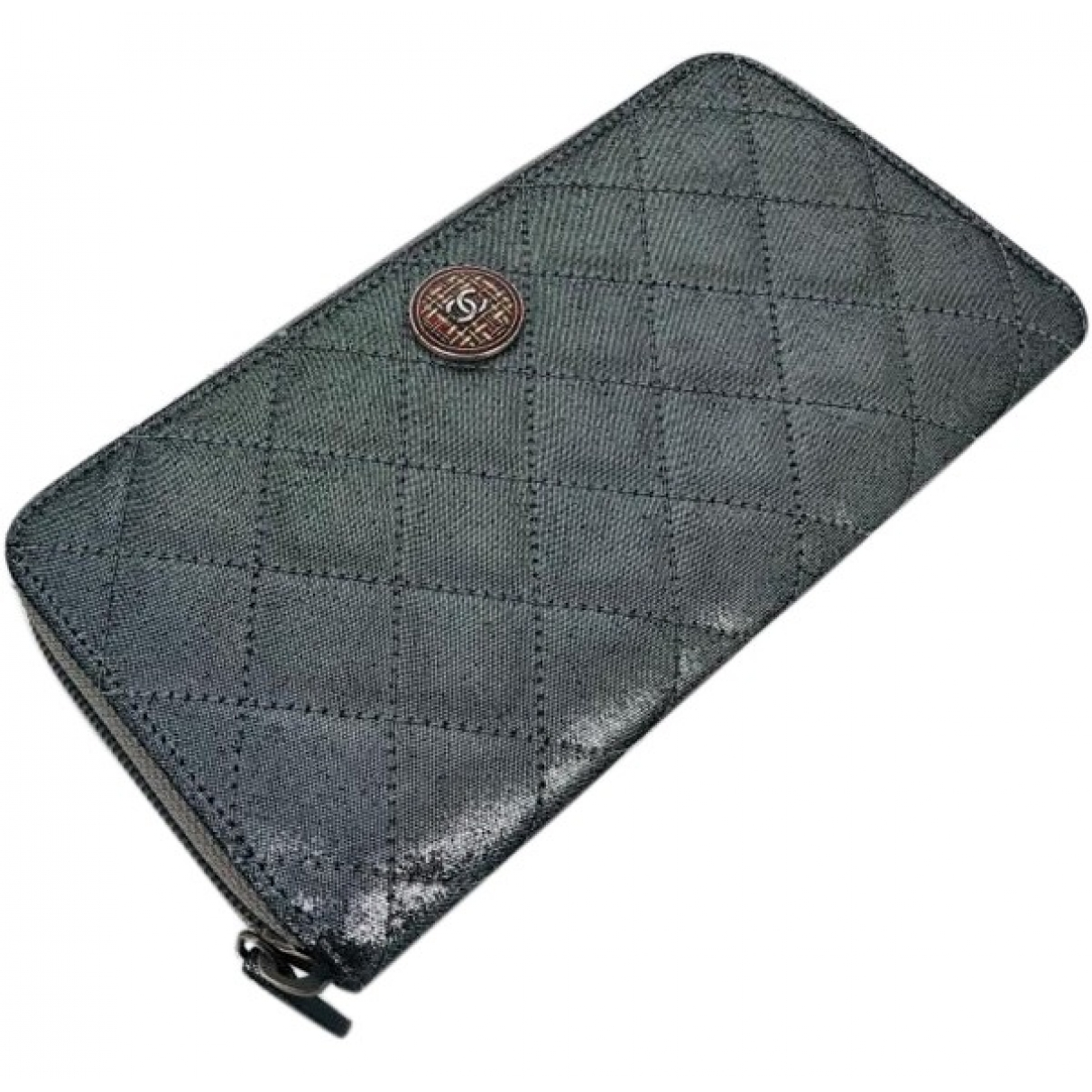 Chanel \N Silver Cloth wallet for Women \N
