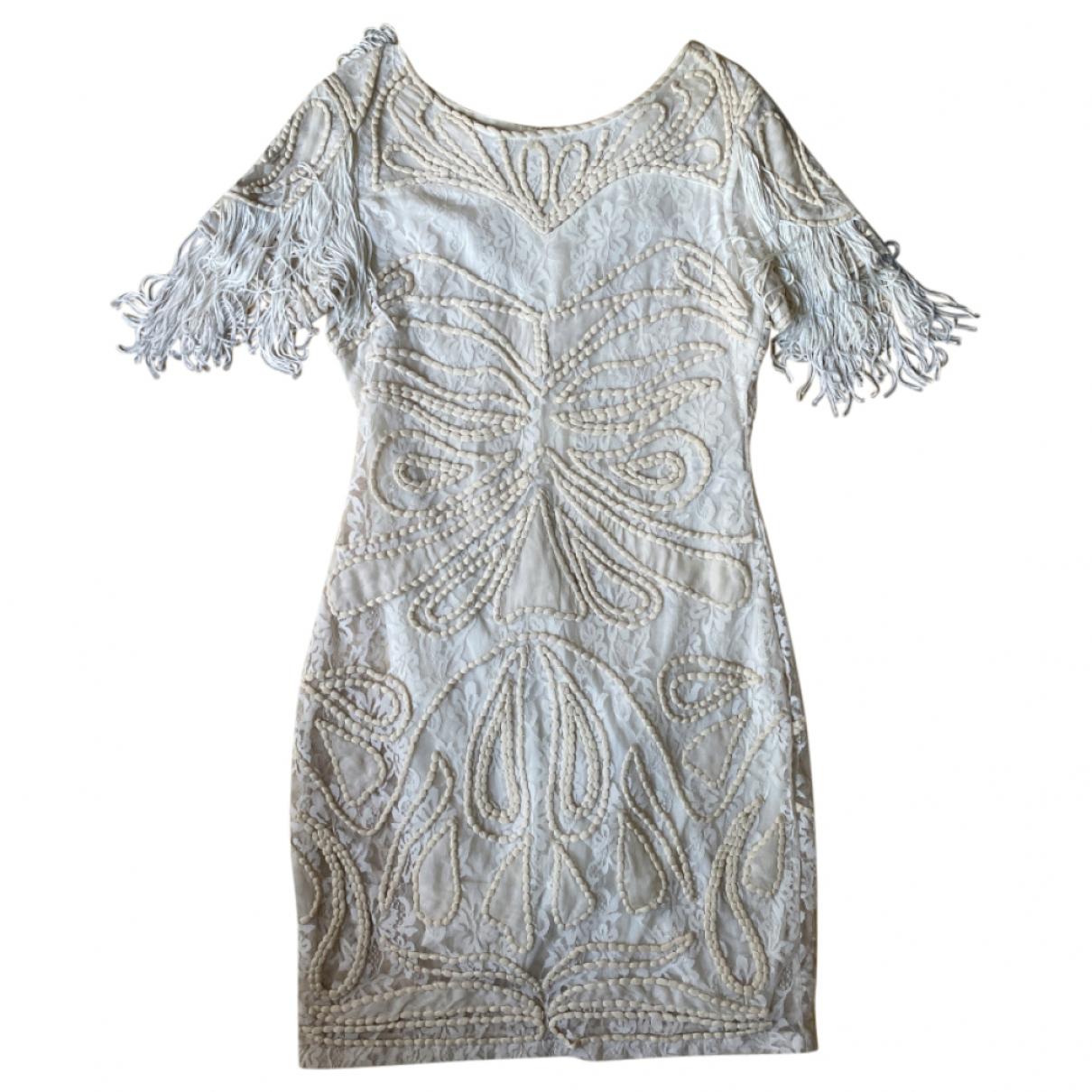 Maje \N Kleid in  Beige Viskose