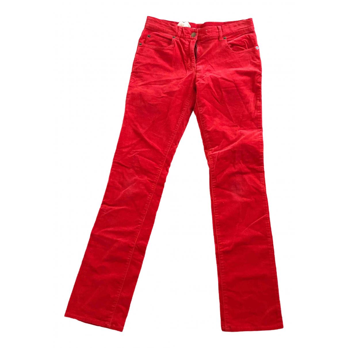 Pantalones en Algodon Rojo Benetton