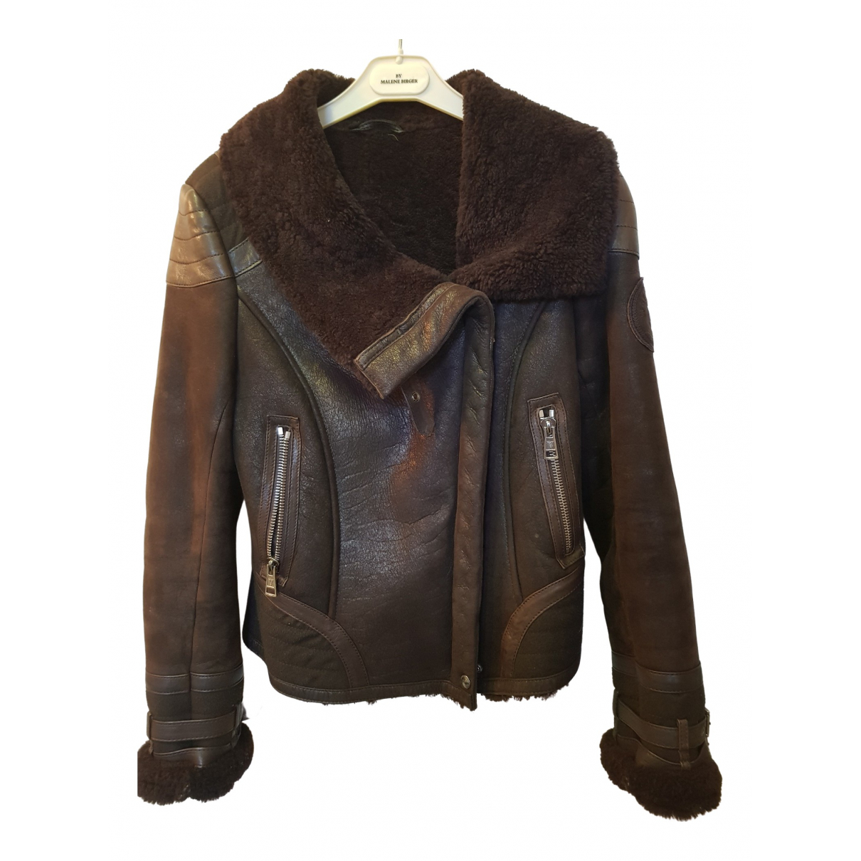 Ventcouvert N Brown Shearling Leather jacket for Women 38 FR