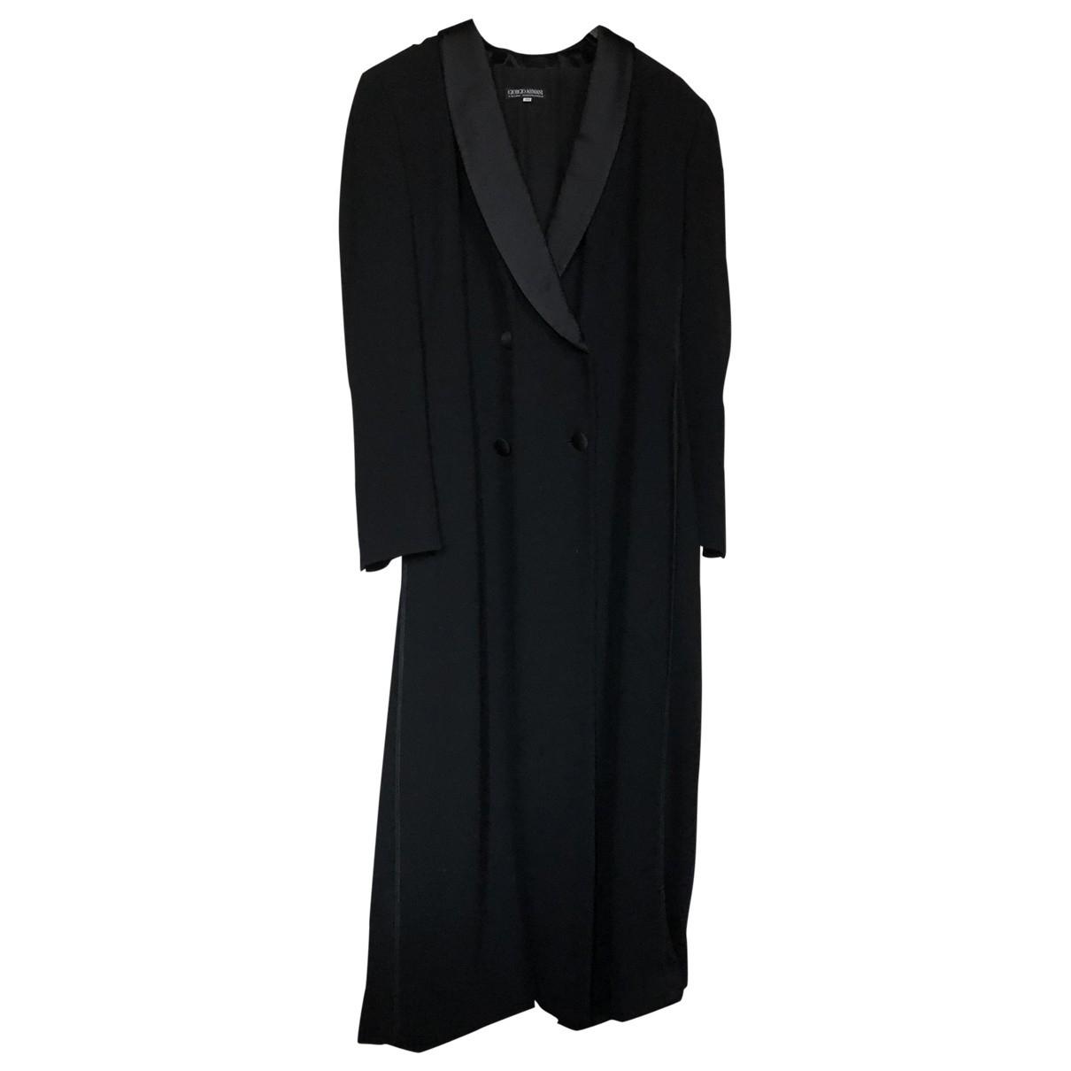 Giorgio Armani - Manteau   pour femme en laine - noir