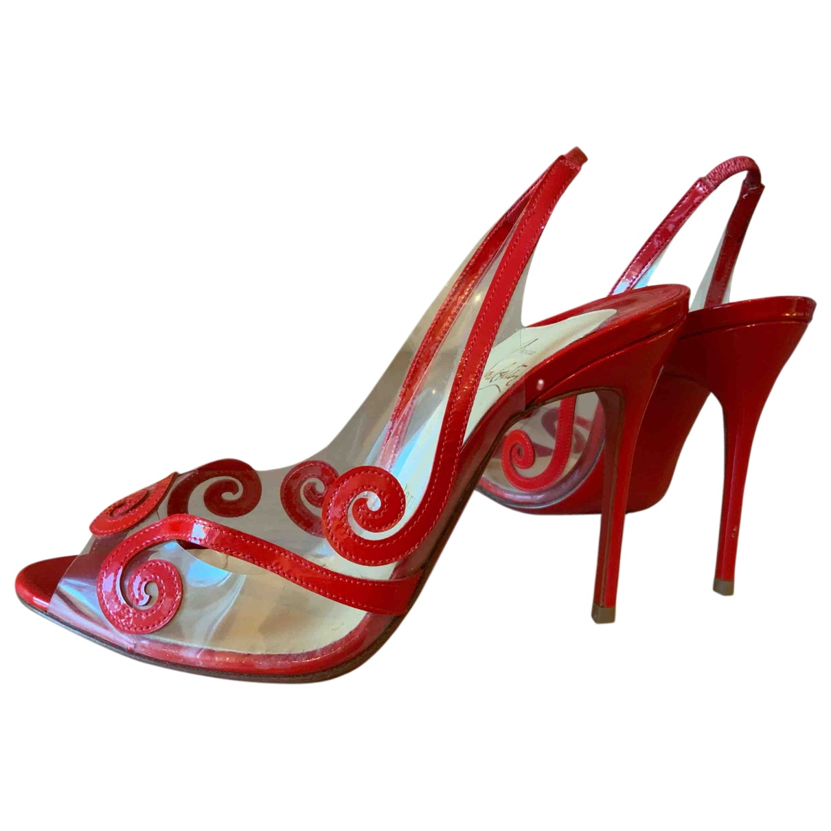 Christian Louboutin \N Pumps in  Rot Lackleder