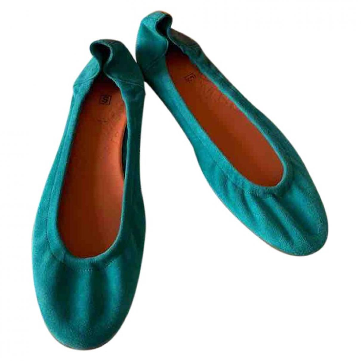 Hermes \N Ballerinas in Veloursleder