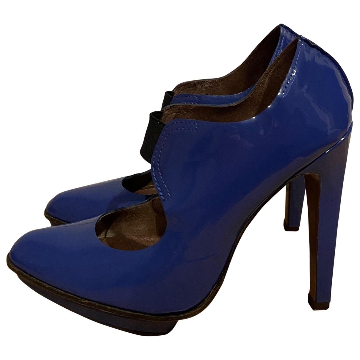 Marni - Escarpins   pour femme en cuir verni - bleu
