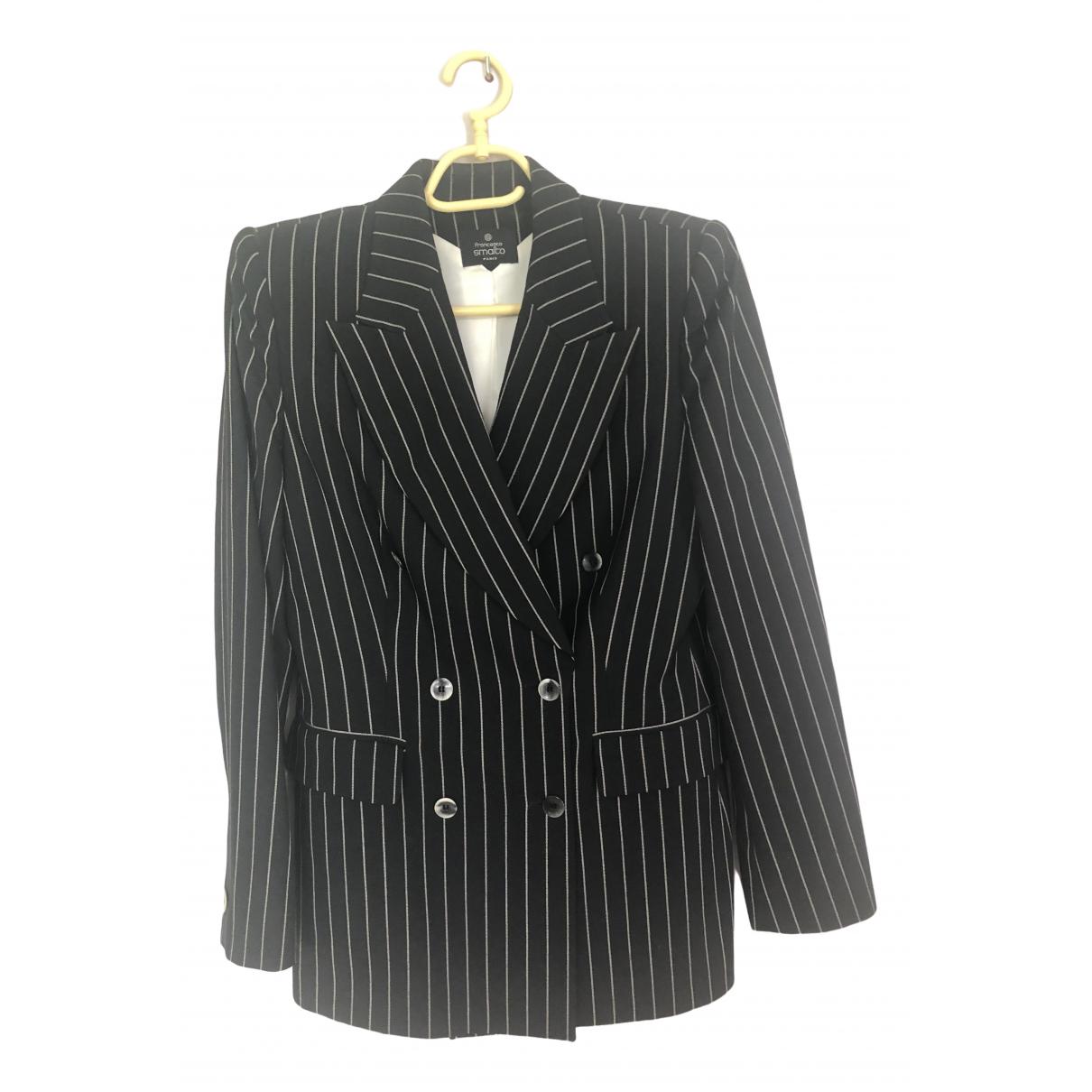 Francesco Smalto \N Blue Wool jacket for Women 42 FR