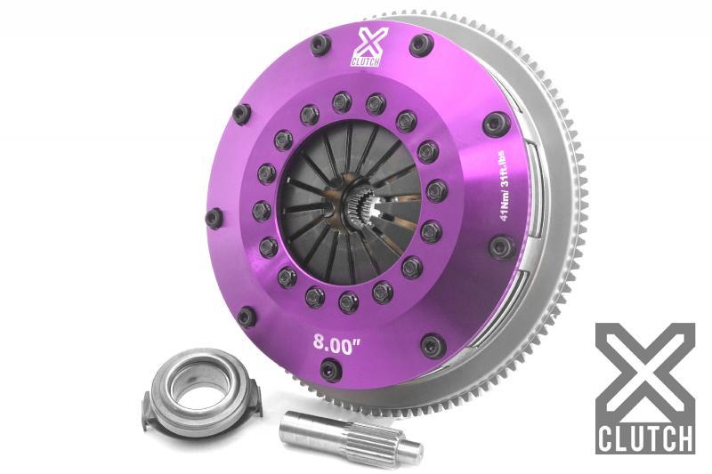 XClutch XKMZ20524-2E Clutch Kit with Chromoly Flywheel 8 and Twin Solid Ceramic Discs Mazda Miata 2006-2014 2.0L 4-Cylinder