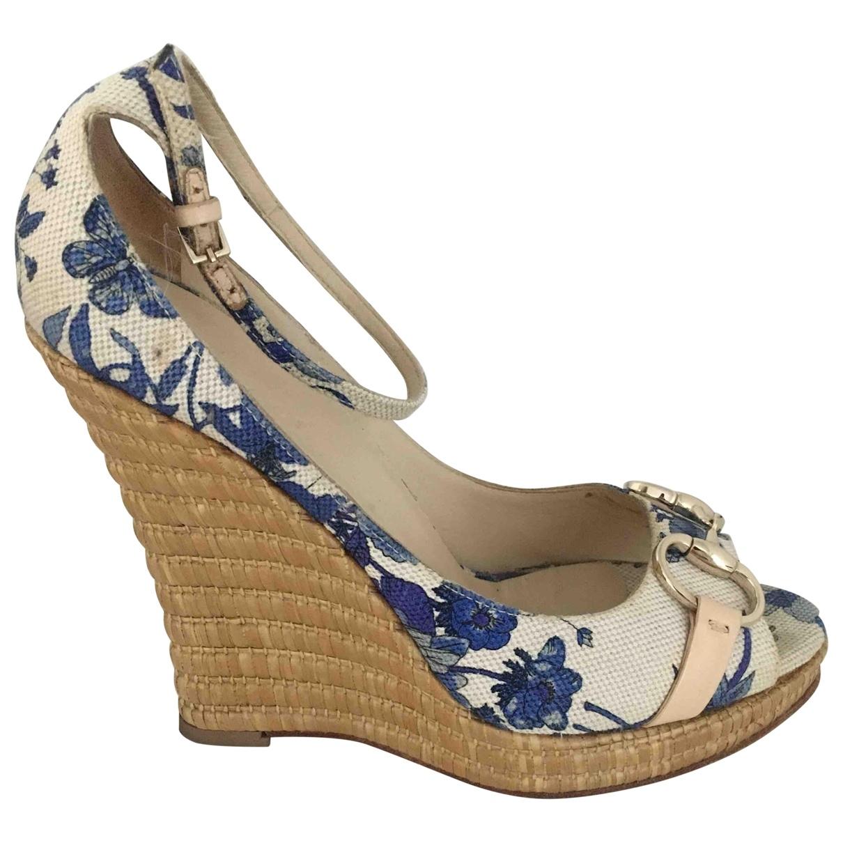 Gucci - Sandales   pour femme en toile - bleu