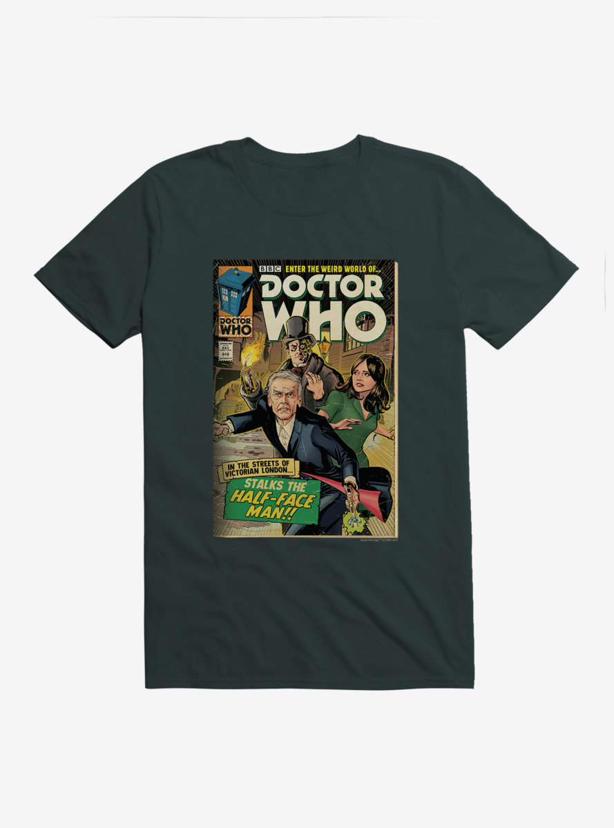 Doctor Who Twelfth Doctor Half Face Man Comic T-Shirt