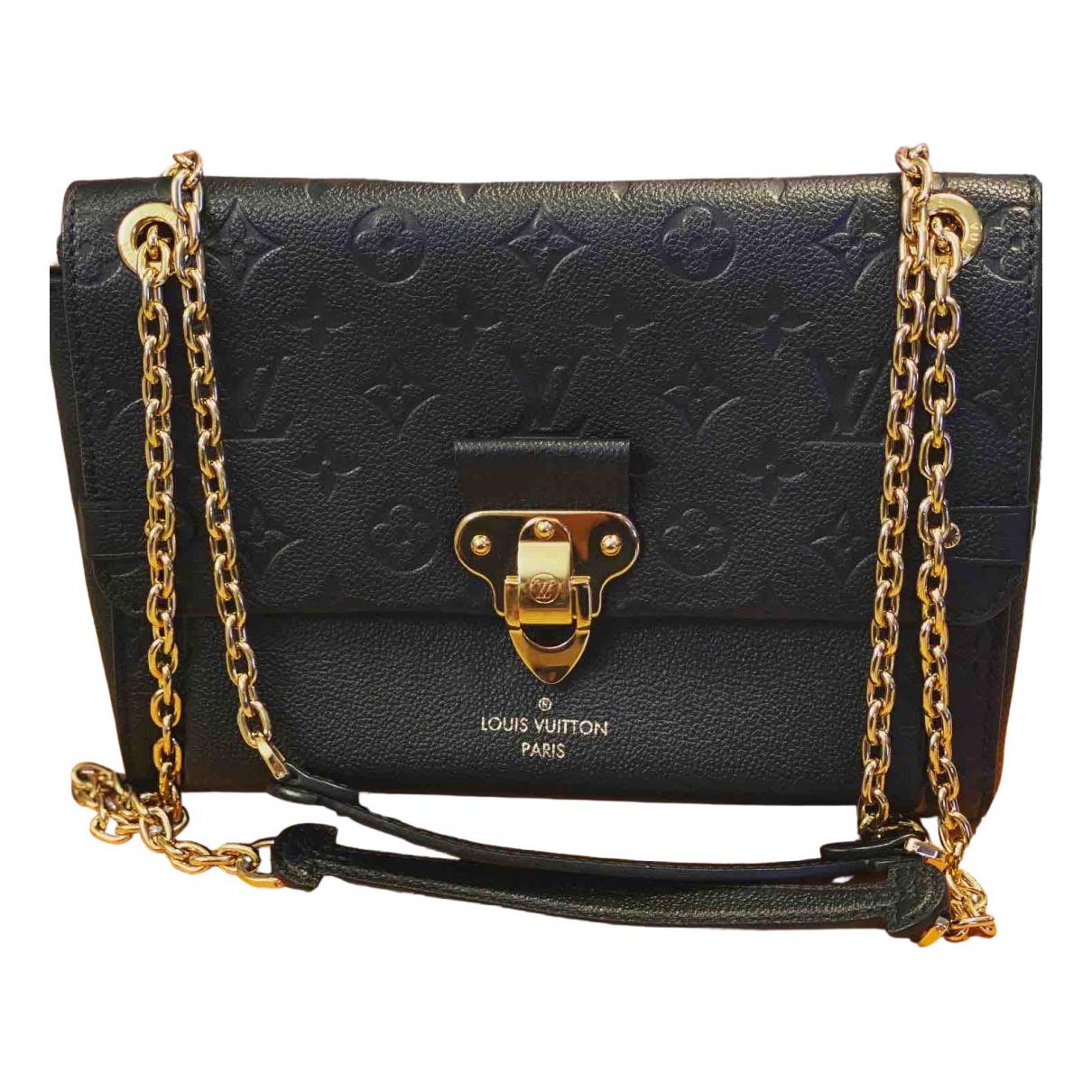 Louis Vuitton Vavin Handtasche in  Schwarz Lackleder