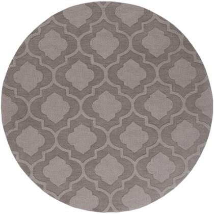 AWHP4009-6RD 6' Round Rug  in Taupe and