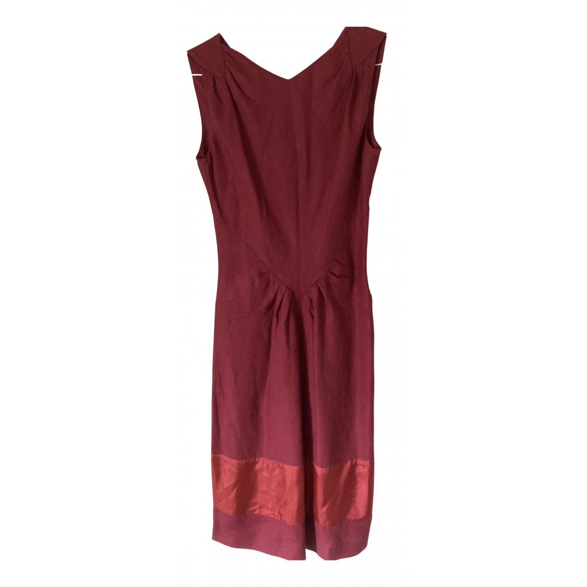 Nicole Farhi \N Kleid in  Rosa Leinen