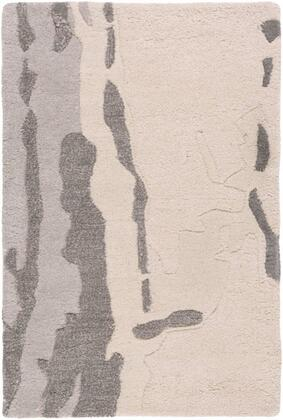 CAN1994-58 5' x 8' Rug  in Beige and Medium Gray and