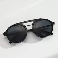 Maenner Pilotenbrille mit Rahmen aus Acryl