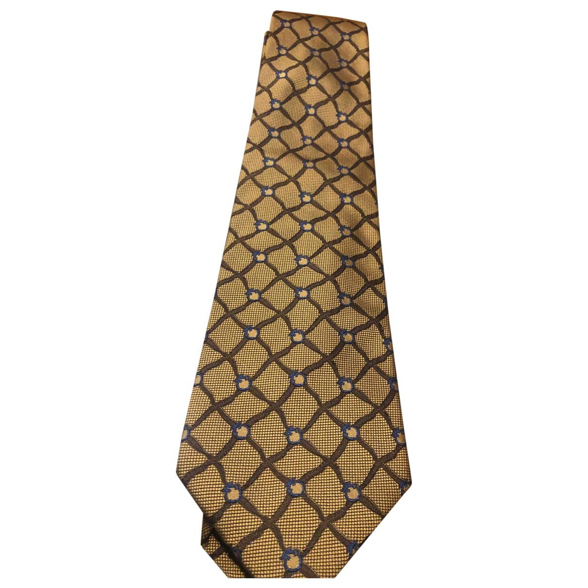 Trussardi - Cravates   pour homme en soie - camel