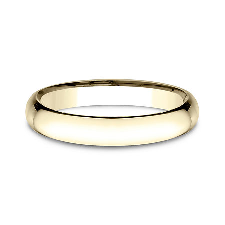 Womens 14K Yellow Gold 3MM Light Comfort-Fit Wedding Band, 8 , No Color Family