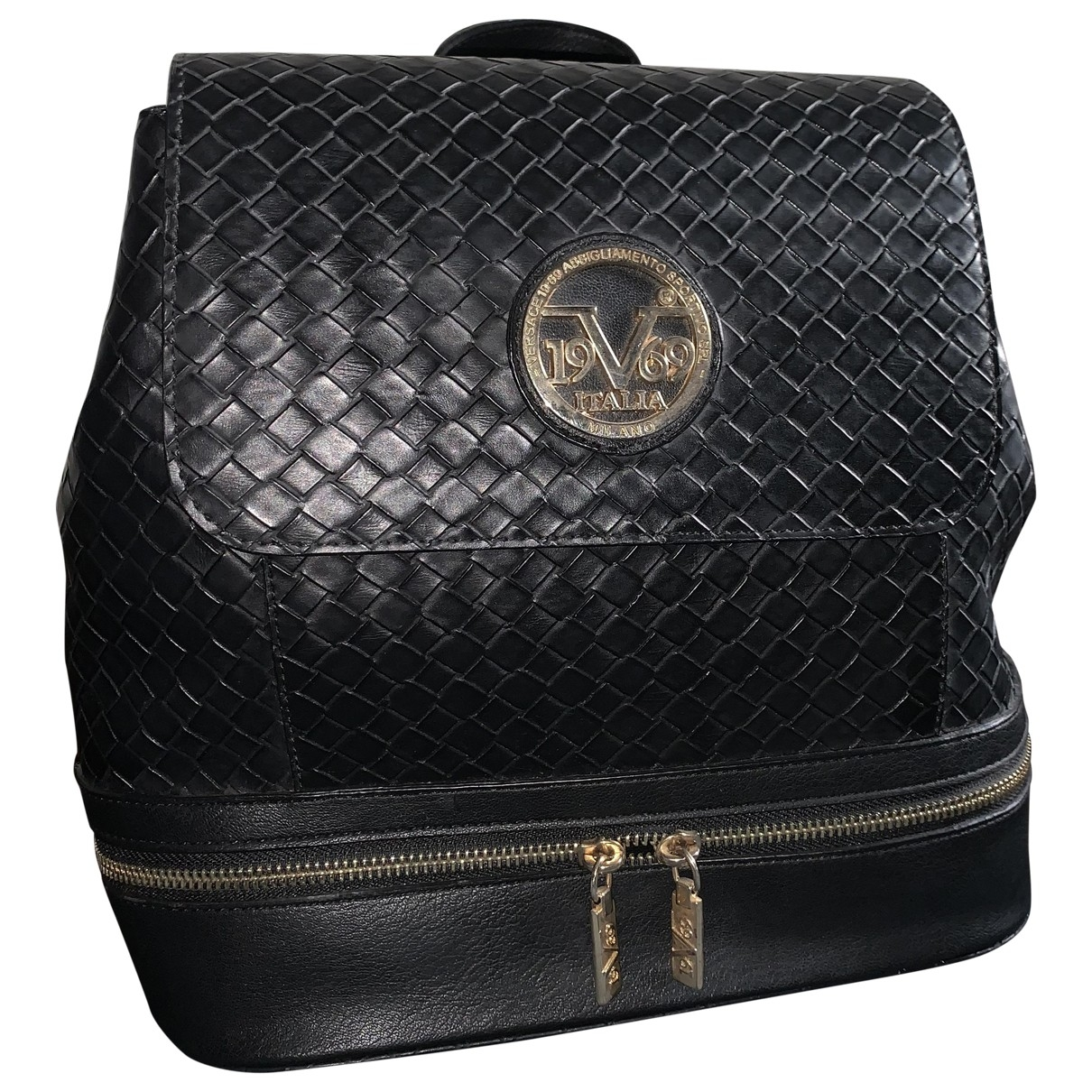 Versace Jeans \N Black Leather backpack for Women \N