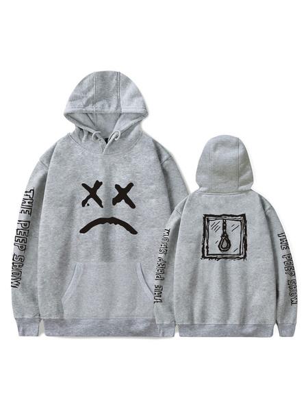 Milanoo Hoodie Women Graphic Print Long Sleeves Hooded Sweatshirt