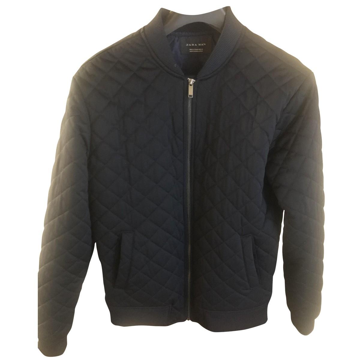 Zara \N Jacke in  Blau Polyester