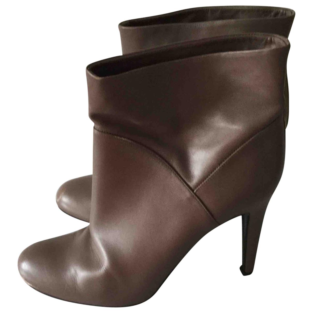 Bally - Bottes   pour femme en cuir - marron