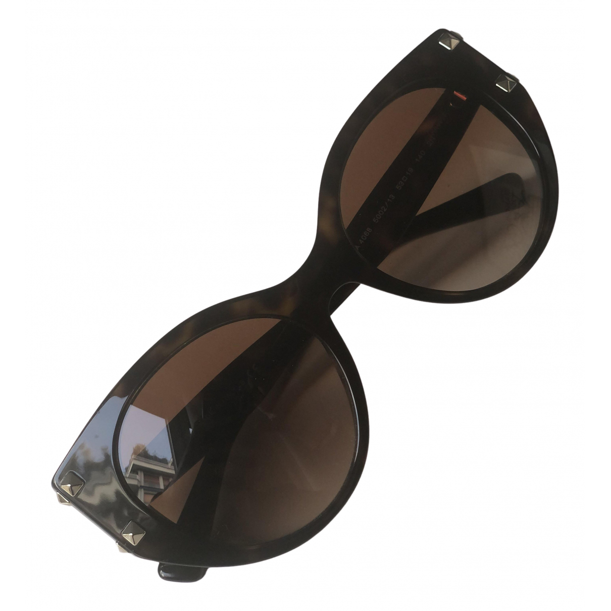 Valentino Garavani \N Sonnenbrillen in  Braun Metall