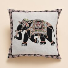 Kissenbezug mit Elefant Muster ohne Fuelle